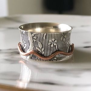 Jewelry - 🆕 Ring Spinner Sterling Silver & Copper 2-tone